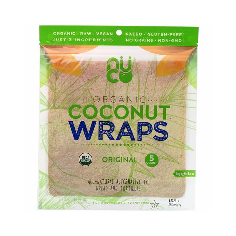 Nuco Organic Coconut Wraps Gluten Free